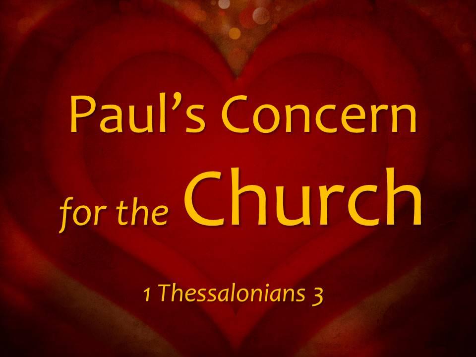 Paul's Concern for the Church