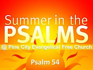 Summer in the Psalms- Psalm 54